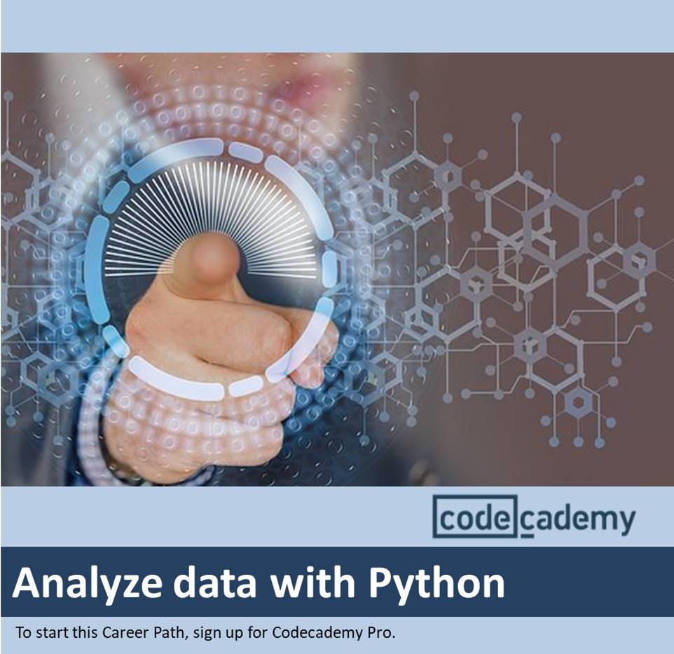 Analyze data with Python Codecademy Product Image